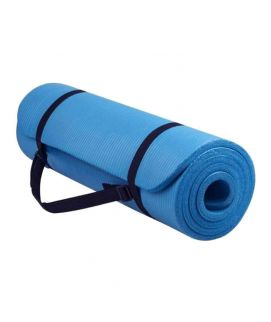 Yoga Mat Non Slip Exercise Fitness 10mm Blue