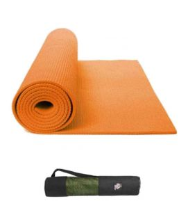 Yoga & Gym Mat With Bag 6mm Orange