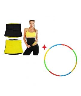 Hot Shaper Belt With Free Hula Hoop Black