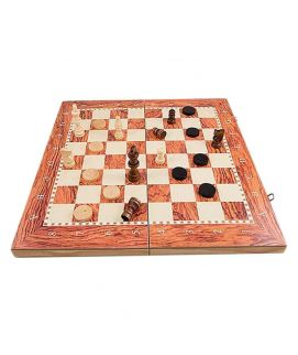 Sports City Indoor 3 in 1 Glass Game Set, Chess Checkers Backgammon