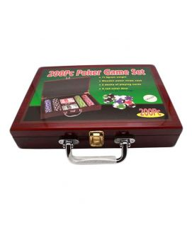 Sports City Indoor Classic Poker Chips Set 200pcs Brown