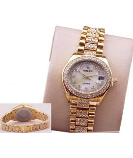 Gold Diamond Ladies Watch