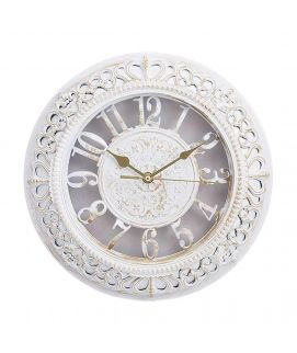 White Fancy Wall Clock