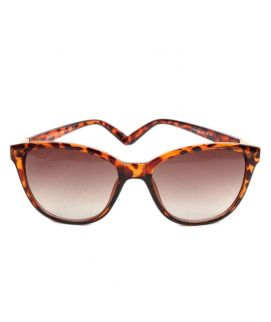 Butterfly Leopard Style With Brown Sunglasses