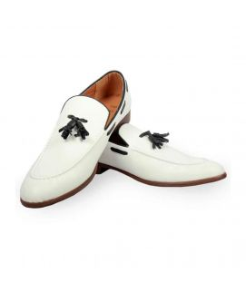 White Tassels Casual Shoes For Men