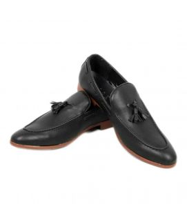 YNG Empire Black Tassels Casual Men's Shoes