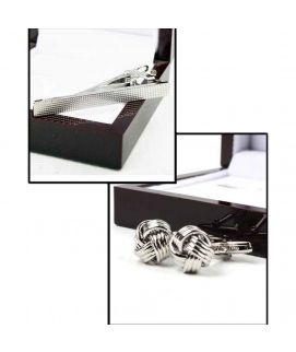 YNG Empire Pack Of 2 Silver Cufflinks For Men