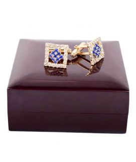 Silver & Gold Stainless Steel Cufflinks For Men