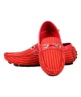Red Syntethic Leather Loafer