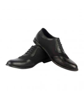 Men's YNG Empire Black Leather Oxfords Shoes