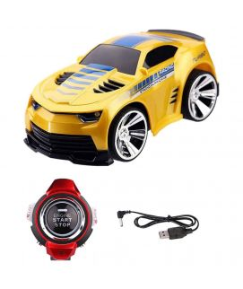 Yellow Smart Voice Control Plastic Car with a Watch