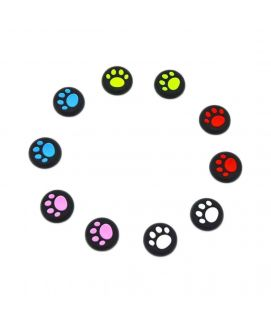 Yueton Pack of 5 Replacement Cat Pad Style Analog Controller Joystick Thumb Stick Grip Cap PlayStation 4