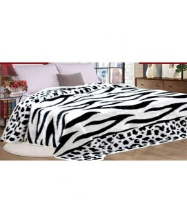 Fleece Blanket White And Black