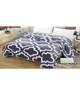 Fleece Blanket White And Purple