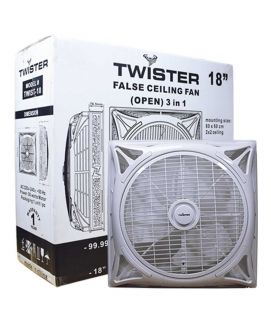 Twister Hi Speed False Ceiling Fan 18 Inch 2×2 Open 3 in 1