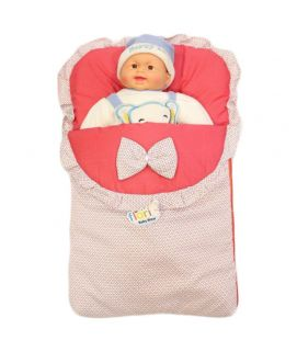 Baby Carry Nest Pink With White