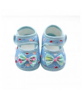 Baby Blue Flower Print Shoes
